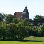 Blick auf die Kirche Bobbin